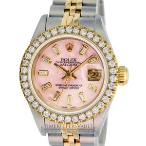 Rolex Lady Datejust Pink MOP Diamond Dial/Bezel
